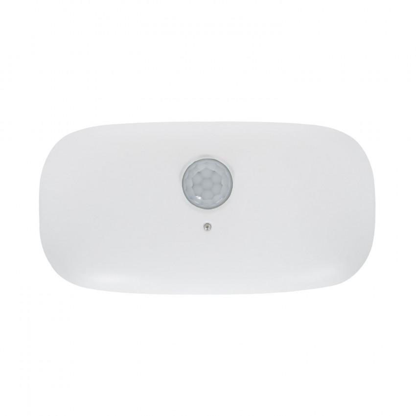 Baliza LED com Sensor PIR Inwall Acabamento Branco com Bateria
