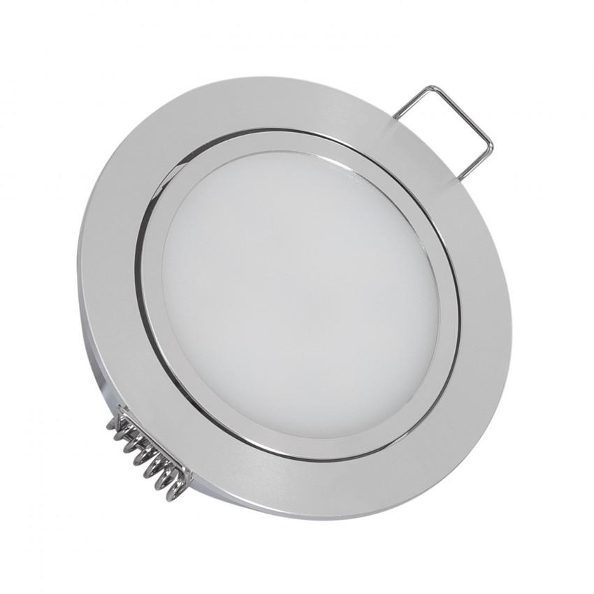 Downlight LED 12V DC 3W Direccionable con Conector Rápido