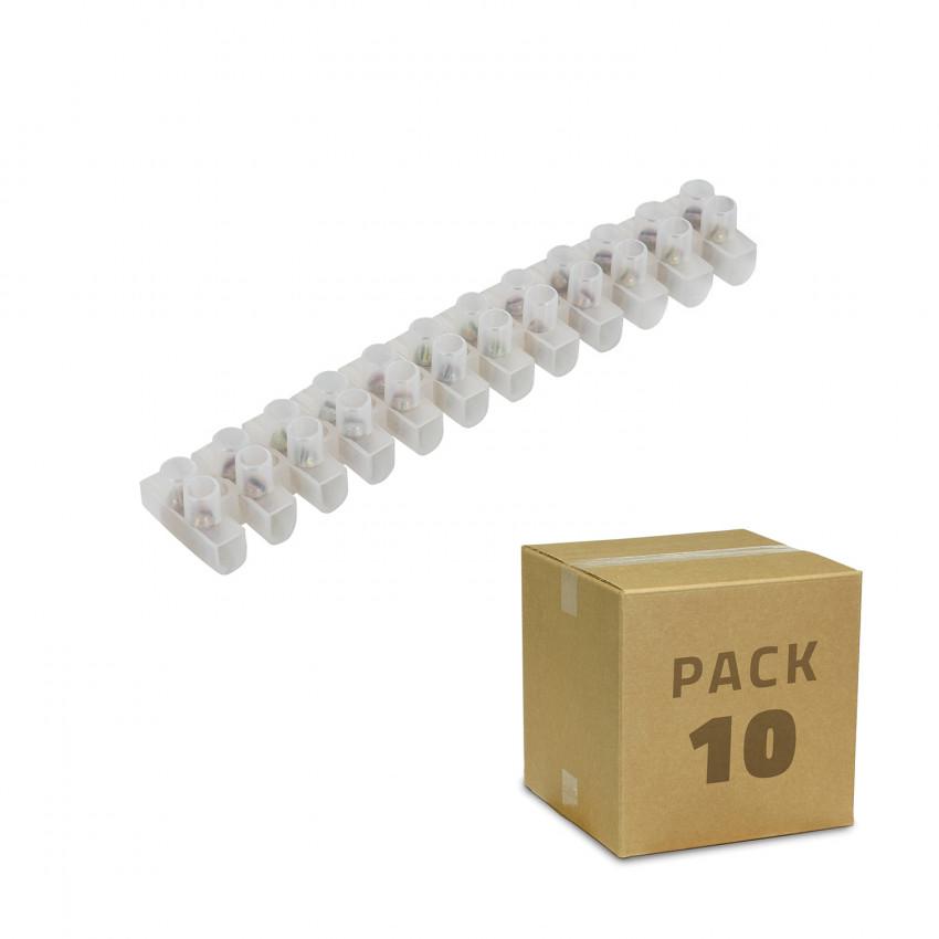 Pack 10 Clema Regleta de 12 Conectores de Cable Eléctrico