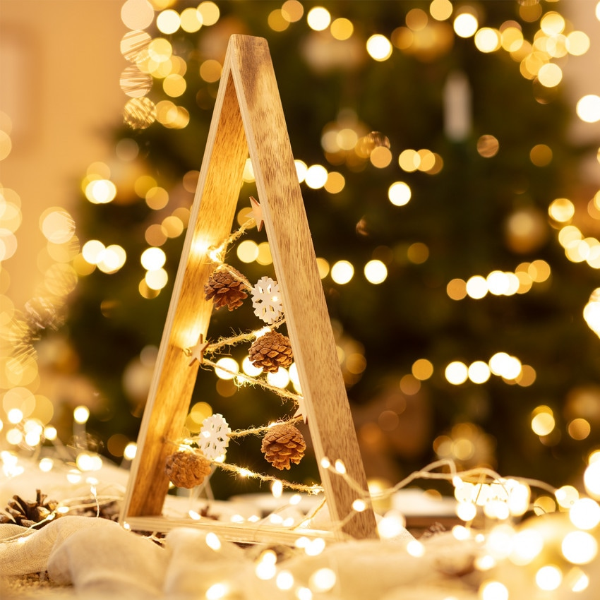 Árbol de Navidad LED Golden con Batería