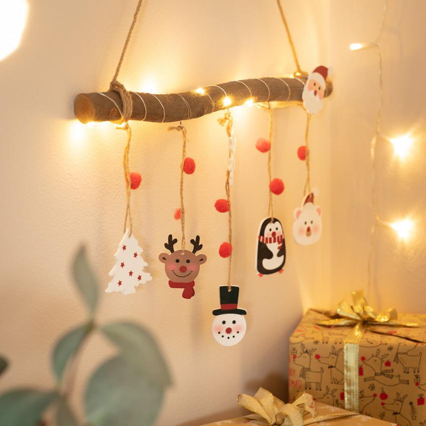 Guirnalda LED Colgante Tronco de Navidad