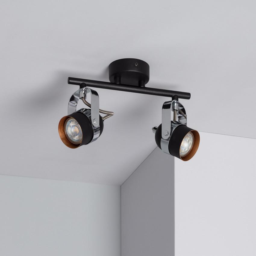 Lámpara de Techo Orientable Sinner 2 Focos Negro