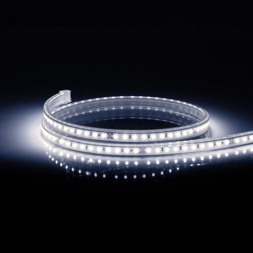 Tira LED Regulable 220V AC 100 LED/m Blanco Frío IP67 a Medida Corte cada 25 cm