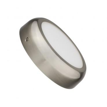 Placa Superfície LED Circular Silver Design 12W