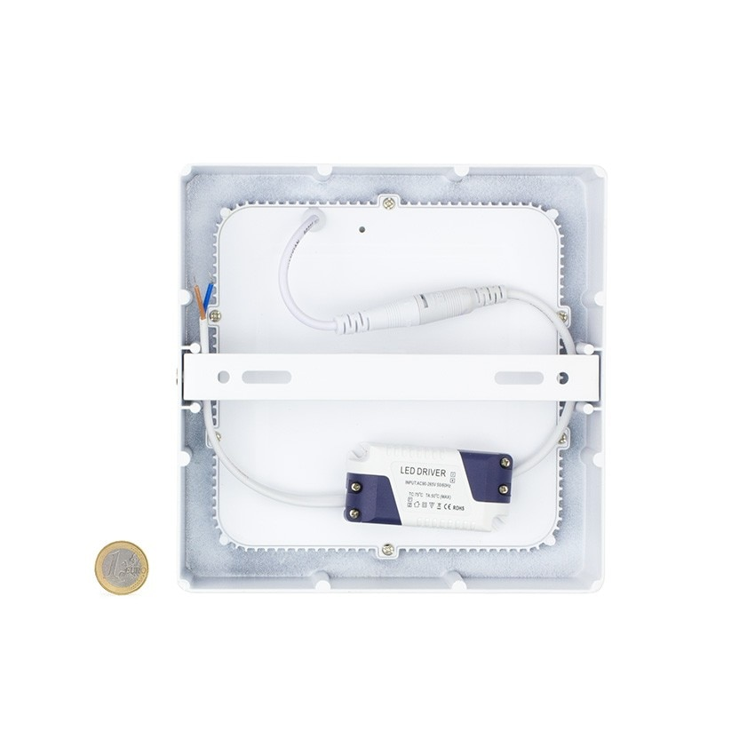 Pack-Plafones-LED-Cuadrado-18W-2-un-Downlight-LED-Plafones miniatura 7