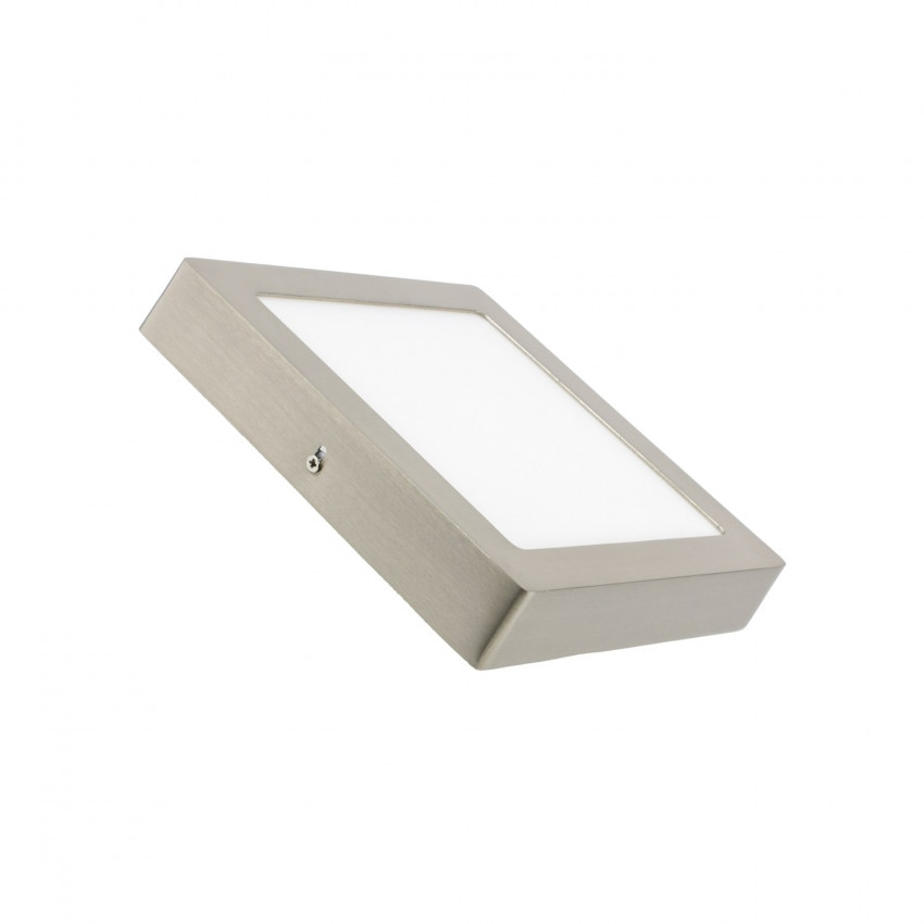 Plafón LED Quadrado 18W Silver